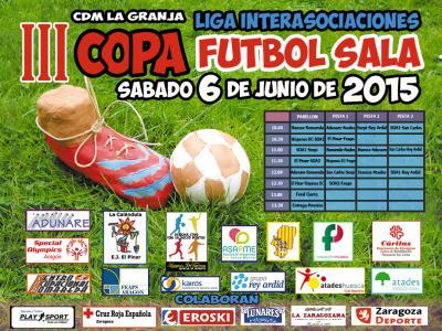 Cartel de la Copa de Fútbol de la Liga Interasociaciones de Zaragoza 2015.