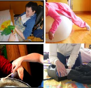 Diferentes momentos de las sesiones de estimulación basal y multisensorial a través del arte